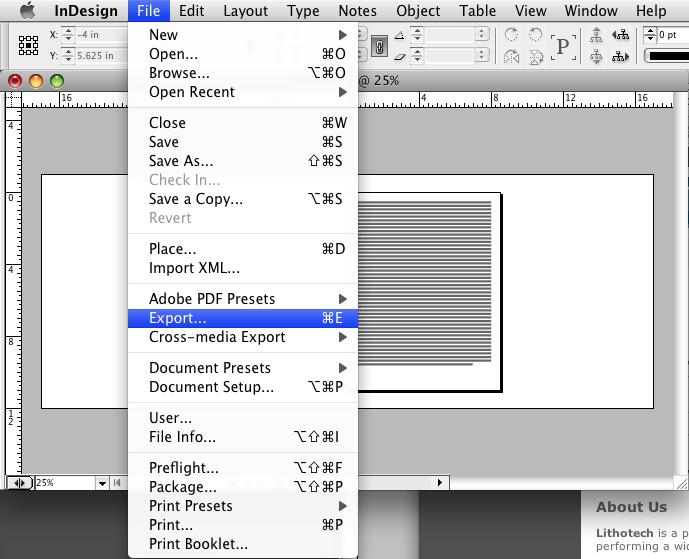 Adobe InDesign – LithoTech
