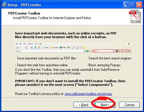 Explorer pdf toolbar internet